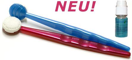 Chitodent® Zungenreiniger( Orasys) mit silberdotierten Fasern im Funktionskopf
