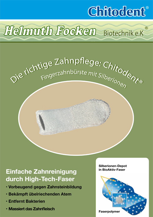Chitodent® Hundefinger und Katzenfinger antimikrobiell wirkende Mikrofaserzahnbürsten mit Silberionen