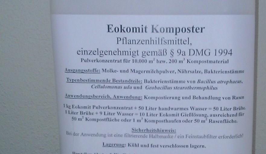 Bodenbakterien Eokomit, Ecosana natürliche Regenerierung des Bodens