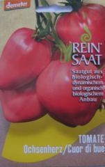 Biologisches Saatgut kbA Tomate OCHSENHERZ Cuordi bue Lycopersicon esculentum Mill.