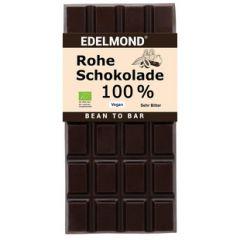 Rohe Bioschokolade 100% Kakao aus biologischem Anbau