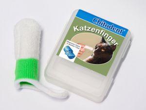 Chitodent® Katzenzahnfinger,Katzenfinger aus antibakteriell wirkender Mikrofaser