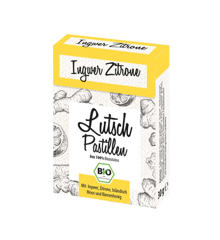 Ingwer-Zitrone Lutschpastillen 30g Bio