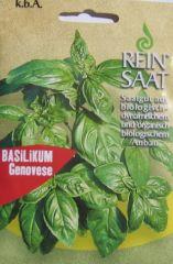 Biologisches Saatgut Basilikum Genovese Ocimum basilicum