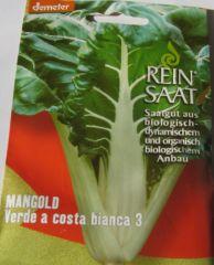 Biologisches Saatgut Mangold VERDE À COSTA BIANCA, Beta vulgaris L.var. vulgaris ReinSaat